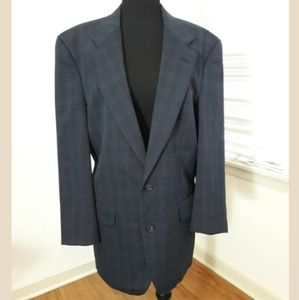 Burberrys Mens 100% Wool Blazer Blue Sports Coat